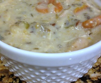 Creamy Chicken & Wild Rice Soup...Crockpot Style