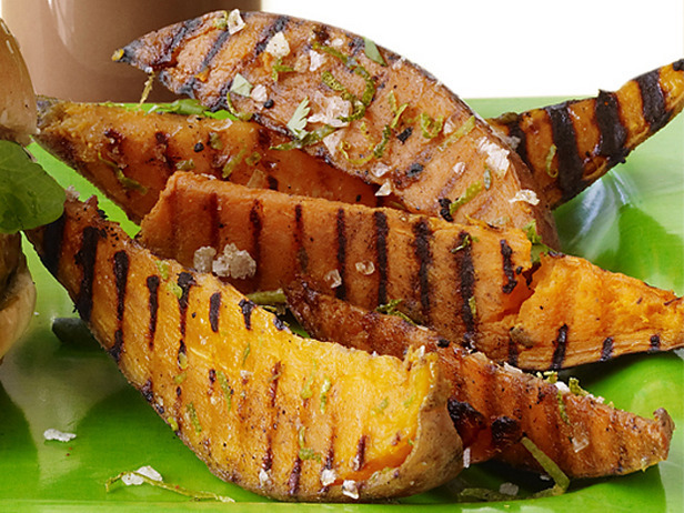 Zesty Lime Grilled Sweet Potatoes and Garlic Lemon Aioli