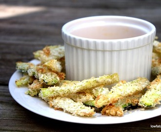 Zucchini Sticks with Honey Mustard Sauce