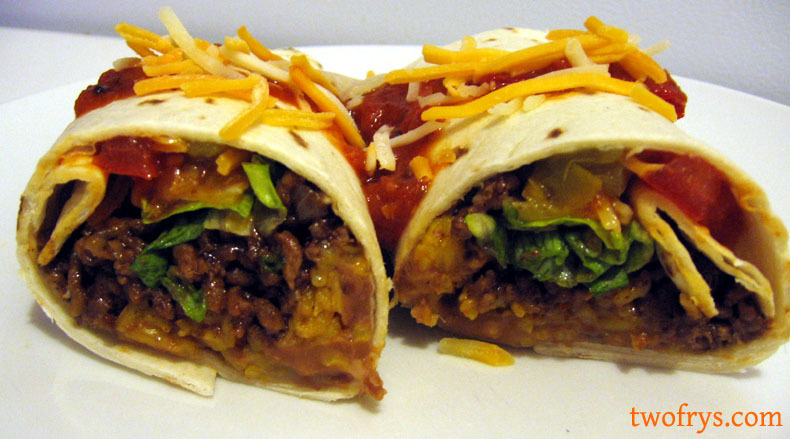Beef + Bean Burritos