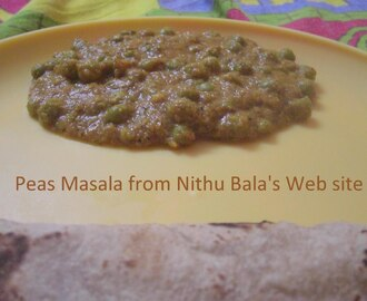 Peas Masala from Nithu's Web site