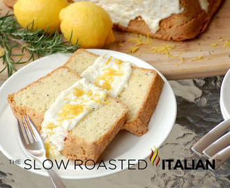 Rosemary Lemon Pound Cake with Lemon Icing