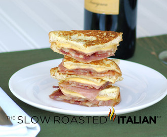 Simply Bacon Monte Cristo Finger Sandwiches