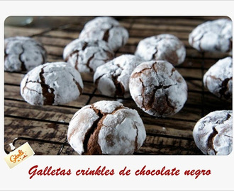 Galletas crinkles de chocolate negro