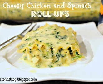 Cheesy Chicken and Spinach Roll-Ups