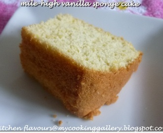 Mile-High Vanilla Sponge Cake : ABC Sept 2012