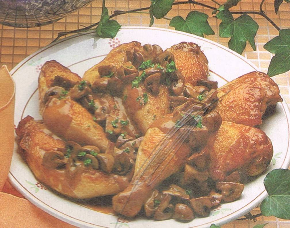 Sauté of Chicken with Mushrooms
