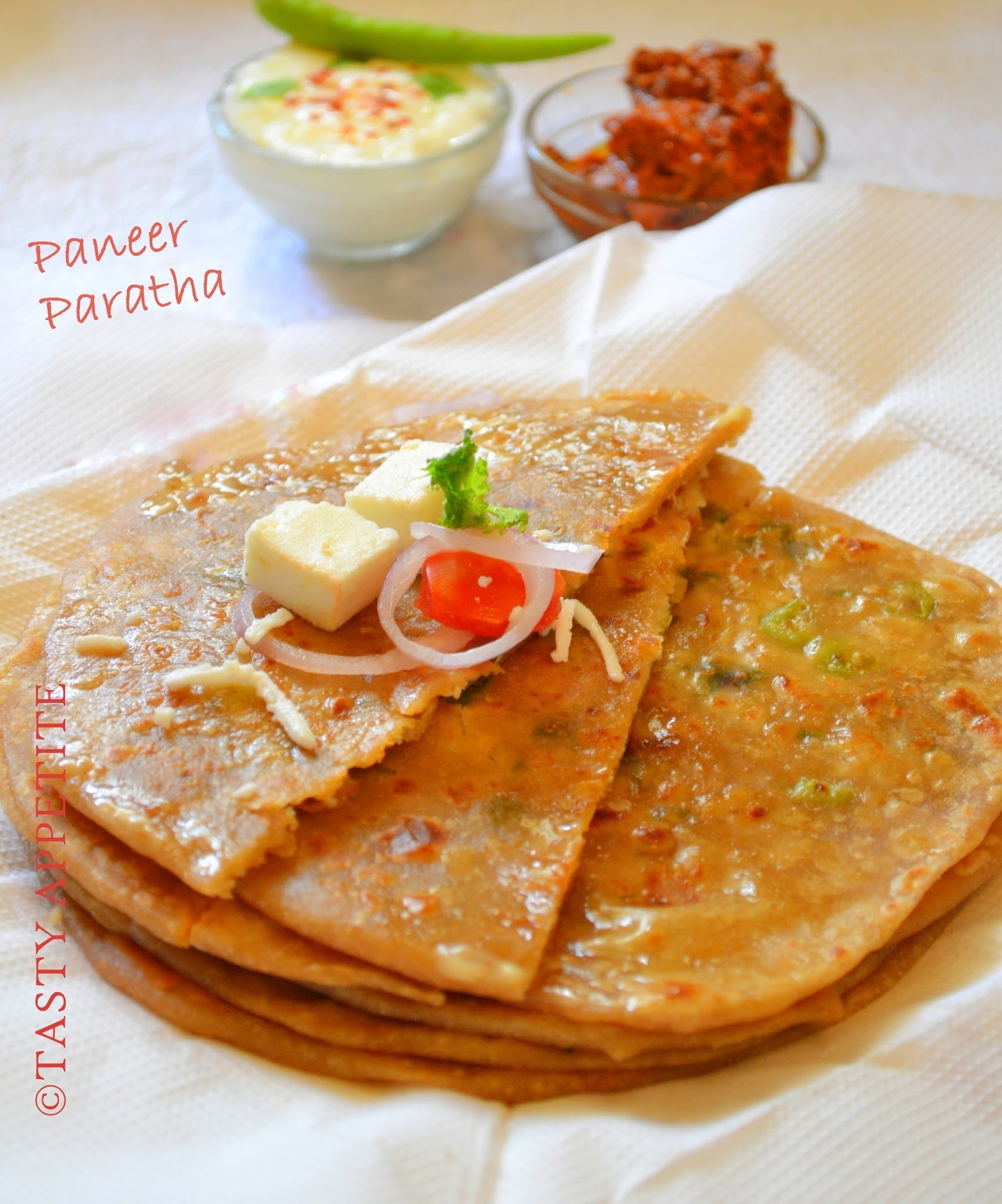How to make Paneer Paratha / ( Indian Stuffed Bread )