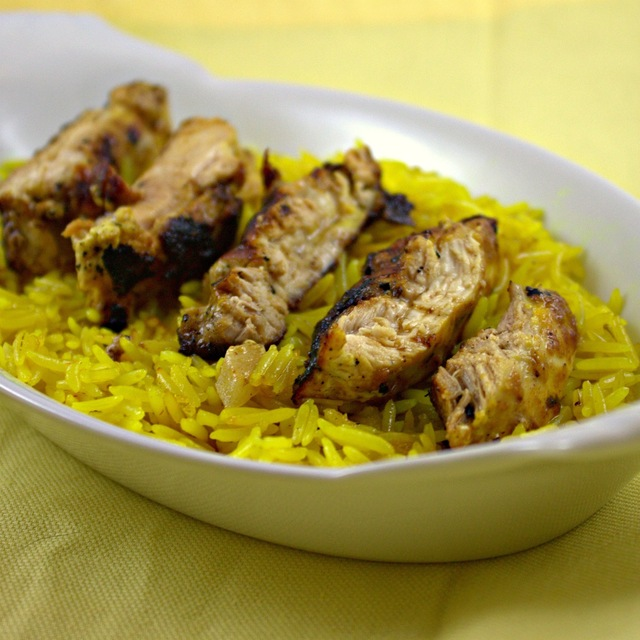 Tandoori Chicken Thighs with Saffron Rice