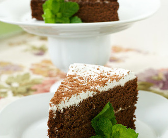 Paleo Chocolate Cake with Vanilla Coconut Whip