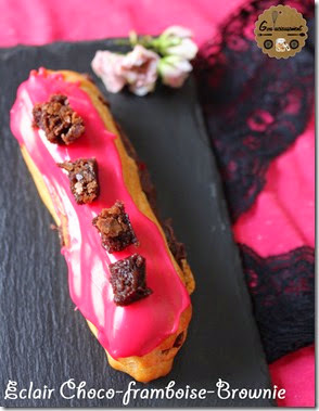 Bataille Food #14 : Eclair Chocolat Framboise et Brownie {Sexy Food}