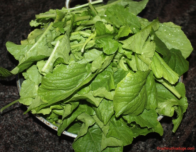 Mulangi Soppu Palya / Radish Leaves Subji