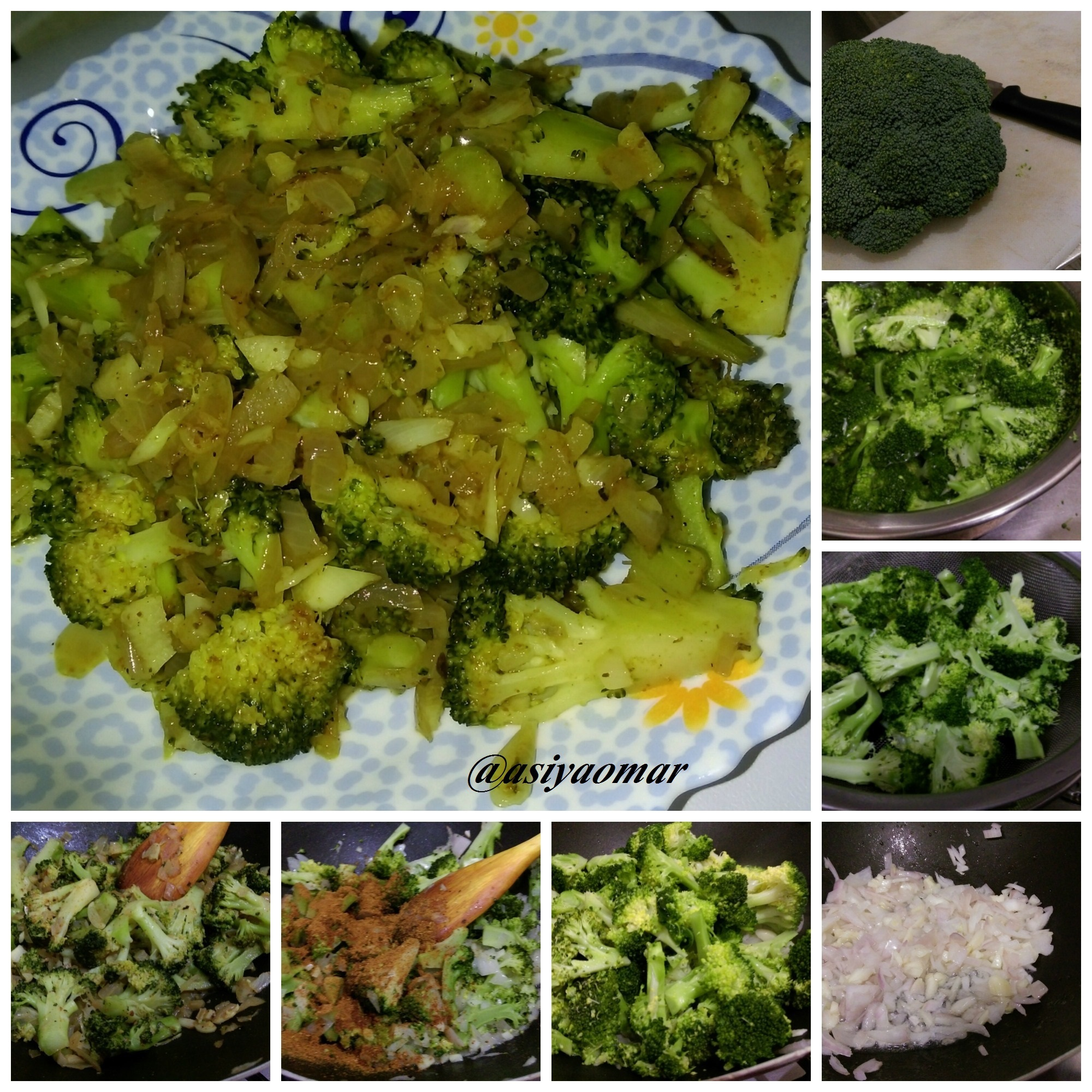 Broccoli stir fry (without coconut)