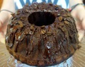 Mocha Cake with Coffee Liqueur Syrup and Chocolate Glaze