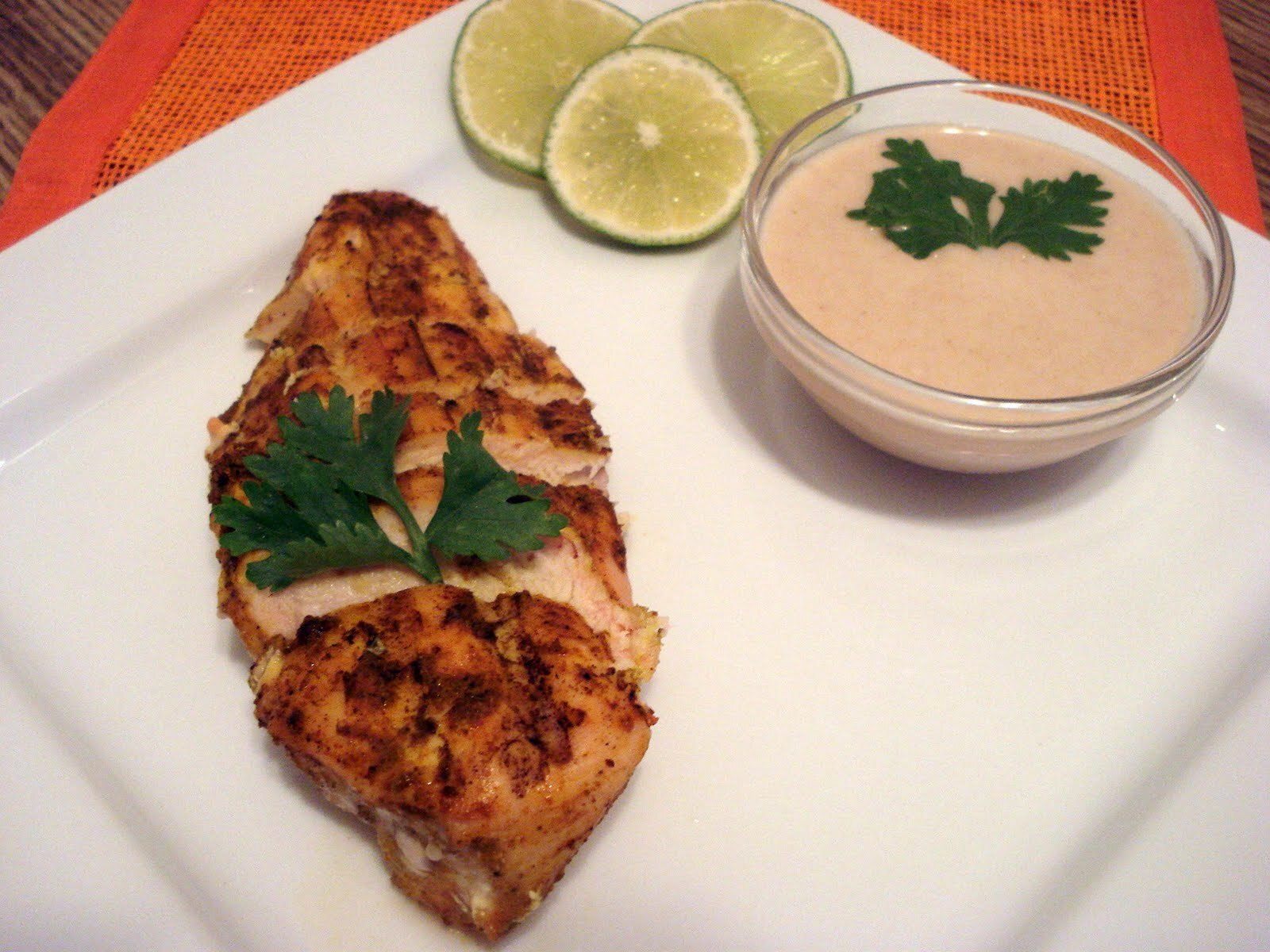 Grilled Chicken Curry with Peanut Dipping Sauce