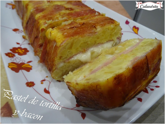 PASTEL DE TORTILLA Y BACON