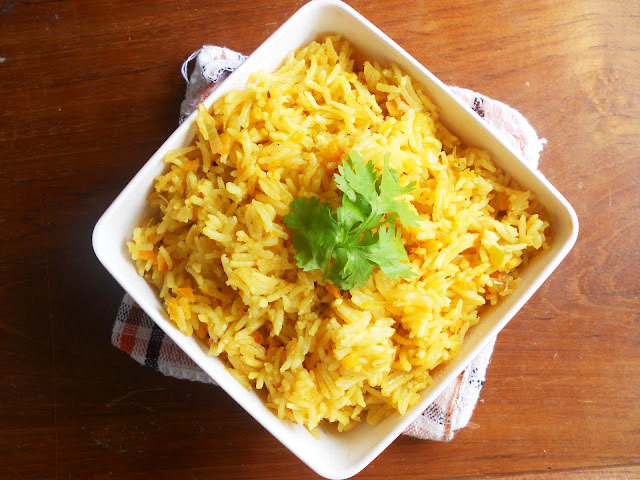 Easy Vegetable Pulav/Veg Pulao...step by step.