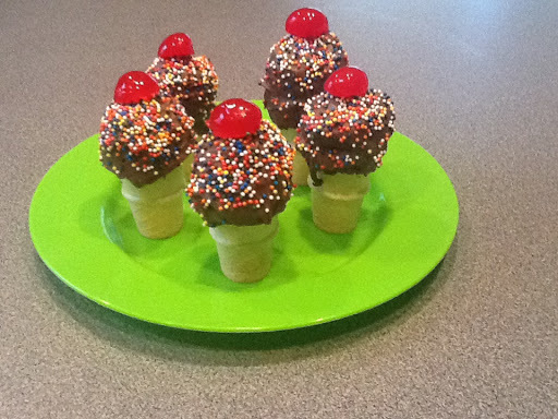 Receta Ice cream cones cake pops