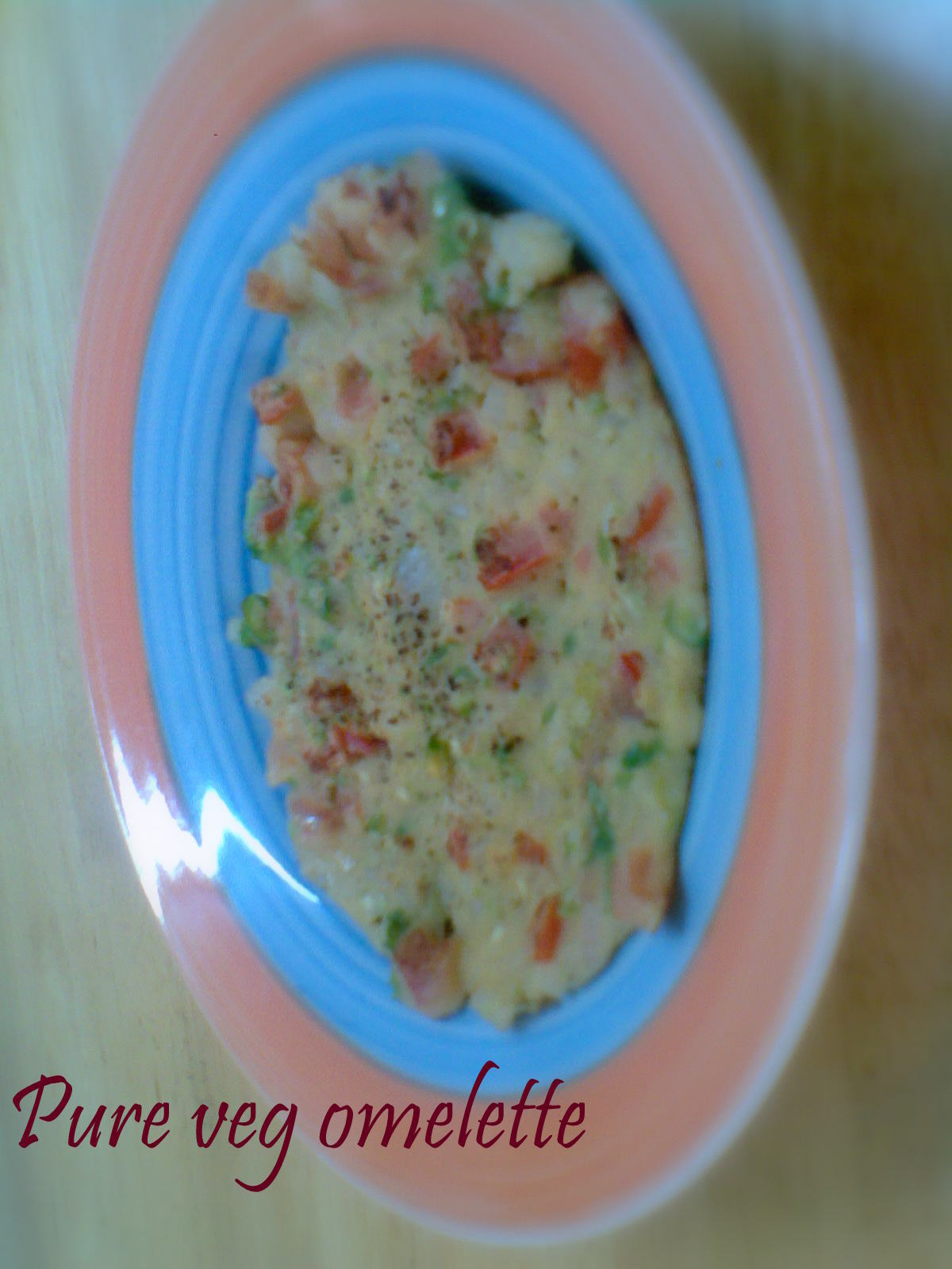 PURE VEG OMELETTE RECIPE