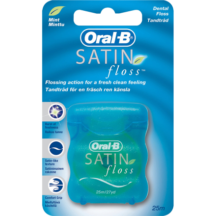 Oral-B Satin Floss Dental Floss, Oral-B Tandtråd