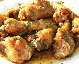 Lemon Garlic Chicken Wing Recipe