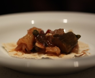 Eggplant caponata with gypsy peppers