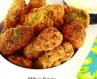 Avocado Fries with Spicy Roasted Garlic Dip