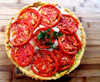 Fresh Tomato Tart...and Silent Sunday!
