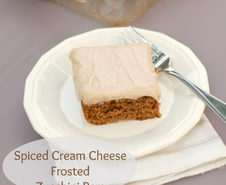 Spiced Cream Cheese Frosted Zucchini Bars
