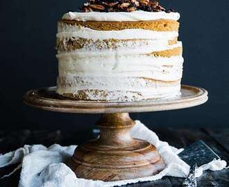 Layered Rum Pumpkin Cake Recipe with Maple Cream Cheese Frosting