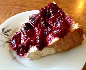 Vanilla Angel Food Cake with Mixed Berry Sauce
