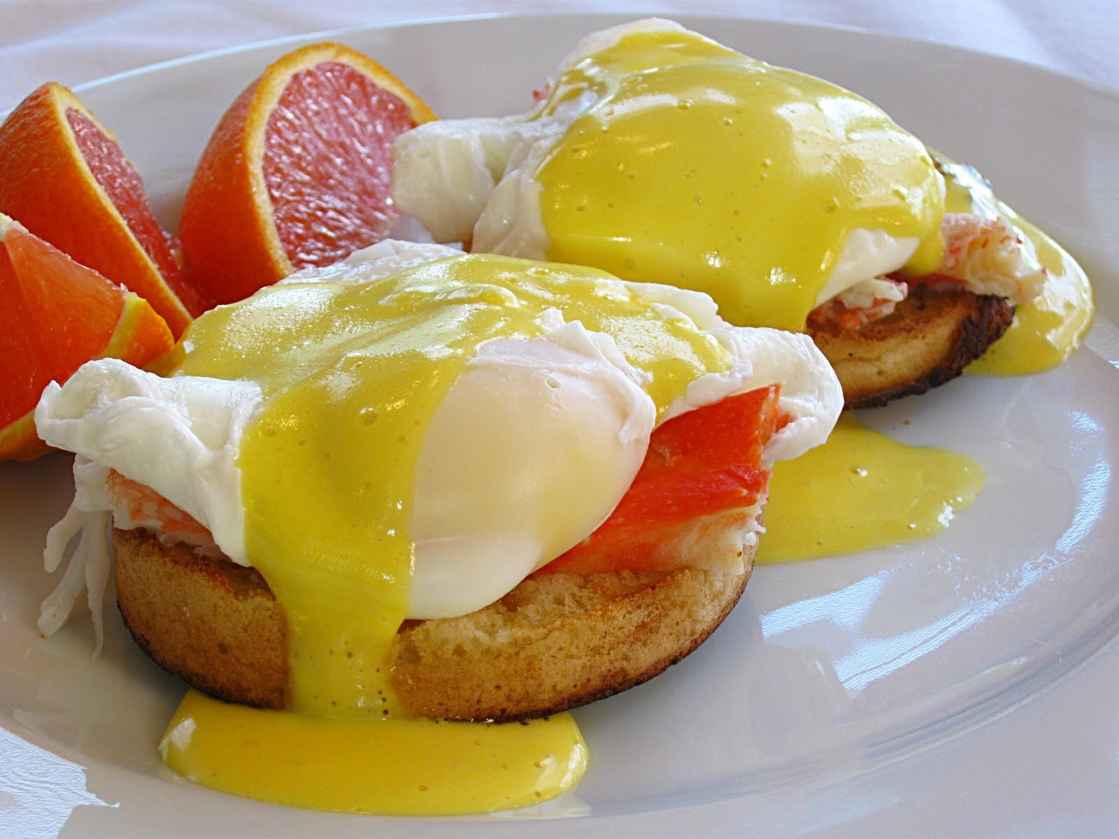 Eggs Benedict with King Crab