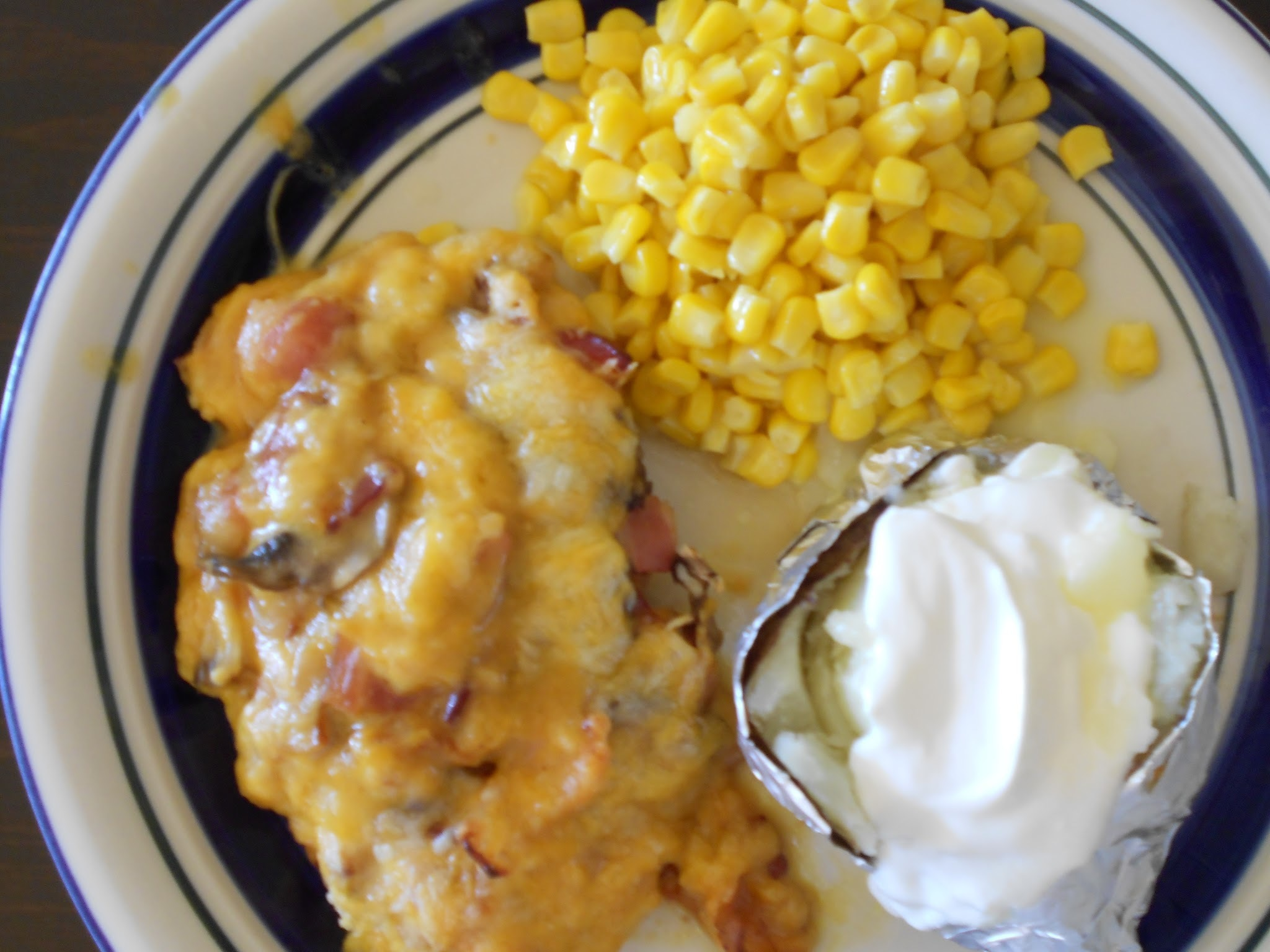 Alice Springs Chicken with my Crock Pot Baked Potatoes