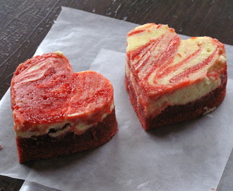 V-Day Red Velvet Cream Cheese Swirl Hearts