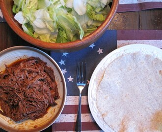 Little Mexico in Tyngsboro: Slow Cooker Shredded Beef, Whole Wheat Tortillas and Caramelized Corn and Avocado Salsa