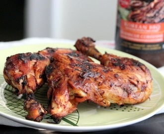Barbecued chicken with Korean BBQ sauce