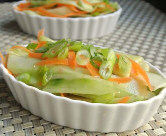 Sweet and Spicy Cucumber and Carrot Salad