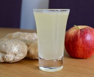 Gluten and Dairy Free Zingy Apple and Ginger Shot