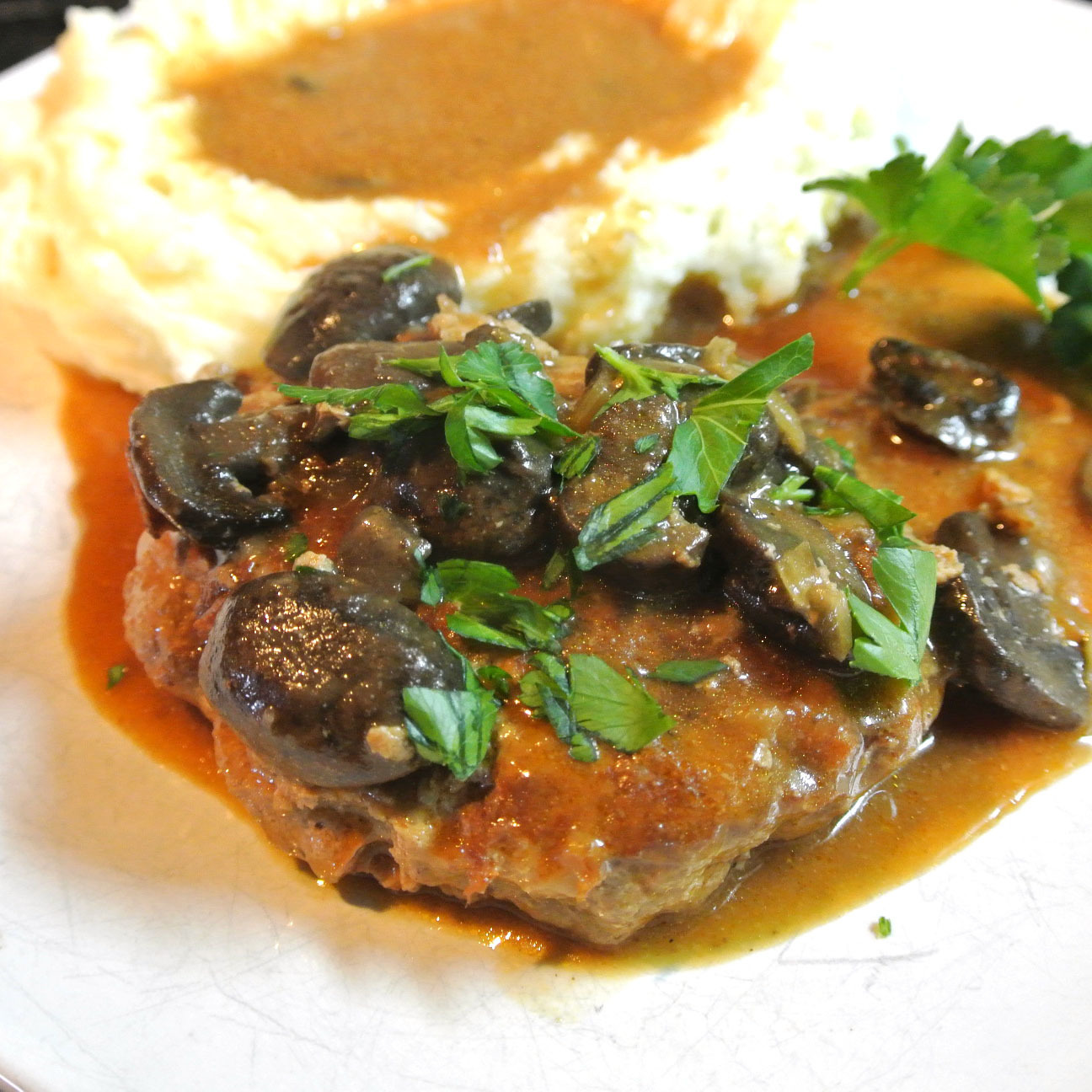 Gluten Free Salisbury Steak with Mushroom Gravy