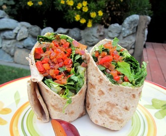 Whole Wheat Vegetarian Lavash Wraps