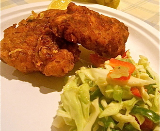Spicy Fried Chicken with Cabbage Slaw