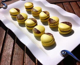 Macarons de Chocolate e Banana - Chocolate and Banana Macarons
