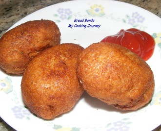 Bread Bonda  ( Deep fried bread with potato stuffing)