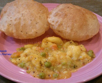 Poori Masala (Deep fried Indian bread with potato curry)