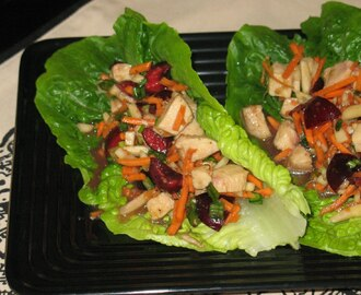 Chicken Cherry Lettuce Wraps