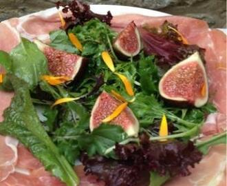 """September Salad"" Figs and Parma Ham."