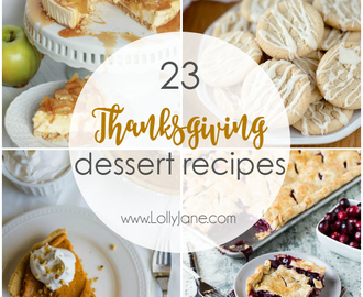 23 Thanksgiving Dessert Recipes