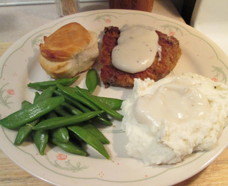 Chicken Fried Veal w/ Peppered White Gravy, Mashed Potatoes,...