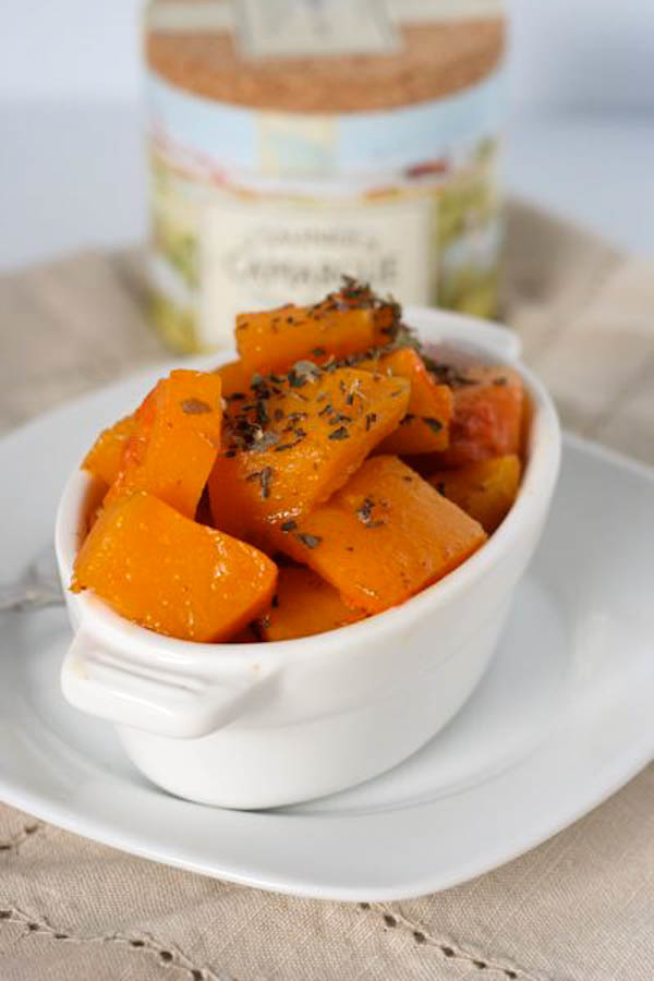 ROASTED BUTTERNUT SQUASH WITH paprika and Herbes de Provence