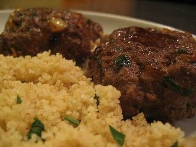 Moroccan Beef Patties With Couscous